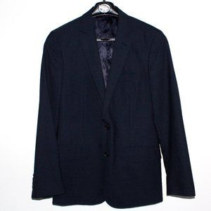 Calibrate Navy Wool/Mohair Double Vent Blazer